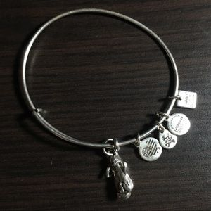 Silver Alex and Ani Otter Bracelet